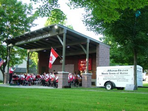 Houlton Maine's McGill's Band Plays In Community Park With 100 Musicians.