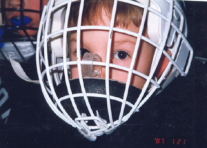 Elliot Mooers Anxious To Get On The Ice To Play Hockey As A Mite Player At Five.