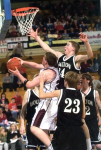 Houlton ME Boys Win Gold State Basketball Trophy.