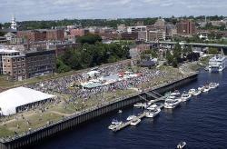 Courtesy Of BDN Aerial Penobscot River, American Folk Festival