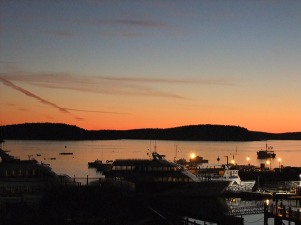 Another Day In Bar Harbor Maine, Hancock County Starts With A Fall Sunrise.