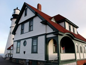 Portland Maine Head Light, This One Of Over 60 Maine Lighthouses