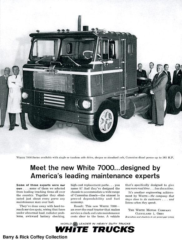 Ta Da ... A White Cap Over Trailer Truck