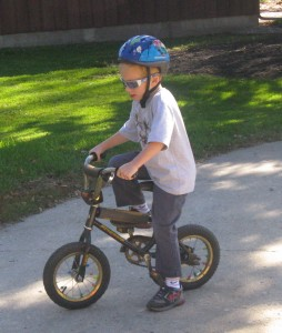 First Run Without Training Wheels, Priceless.