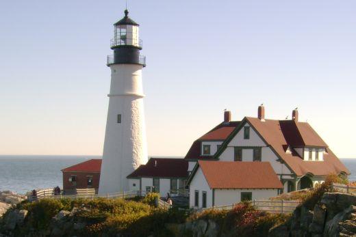 Portland Maine Head Light Is In Cape Elizabeth
