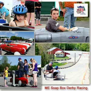 Maine Soap Box Derby Families Race Cars In Friendly Spirited Competition.
