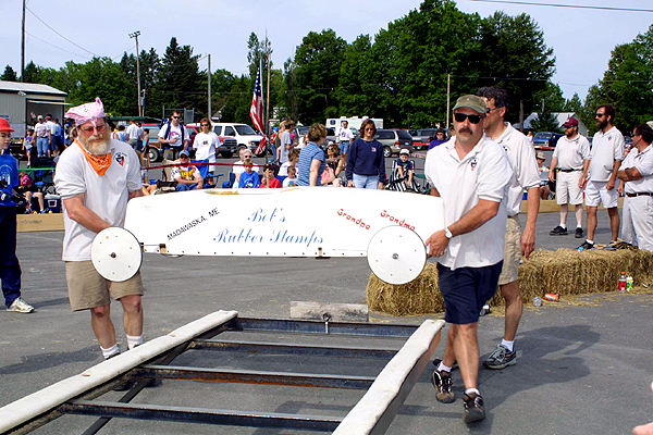 This Year's 17th Annual Northern Maine State Race Of Soap Box Derby Dedicated To Bill Weber