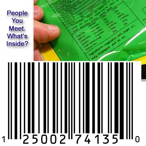 Barcodes, Inside Ingredients And Warning Labels. What If....