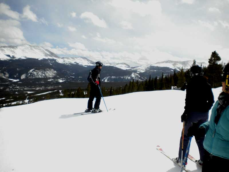 Beautiful Sunshine, Snow Ski Conditions In Colorado.