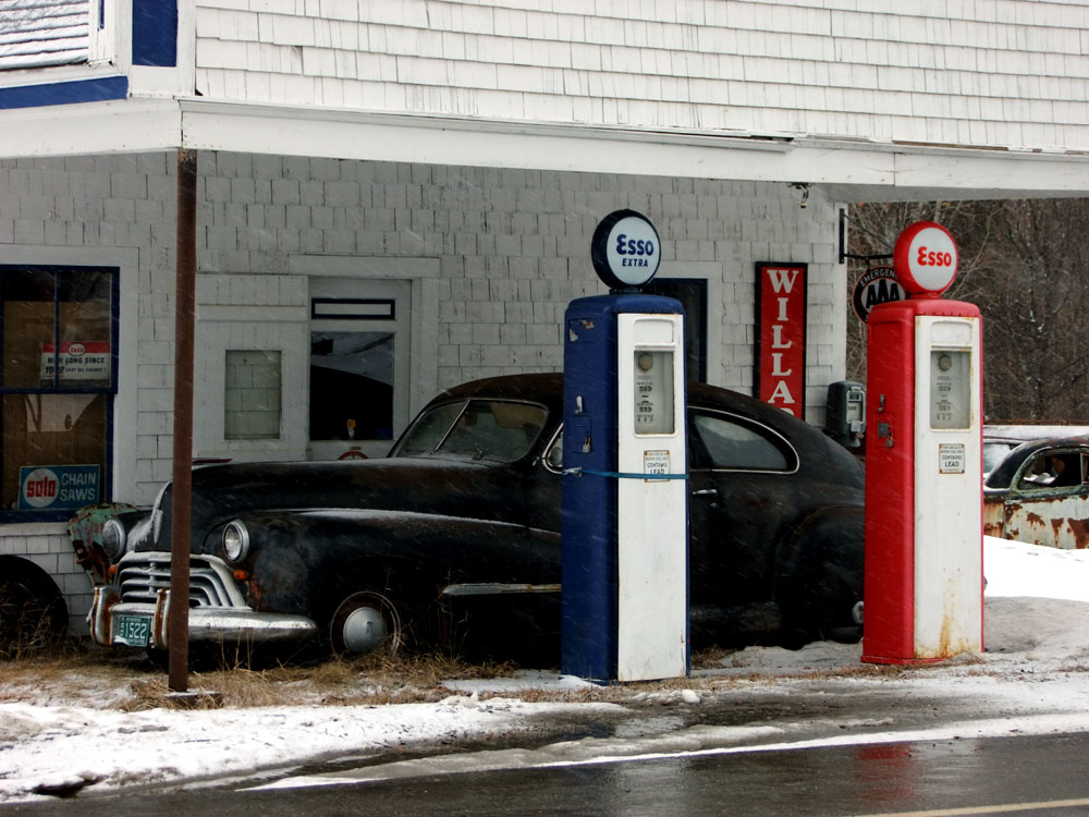 Stretching Your Legs, A Maine Gas Station Stop.