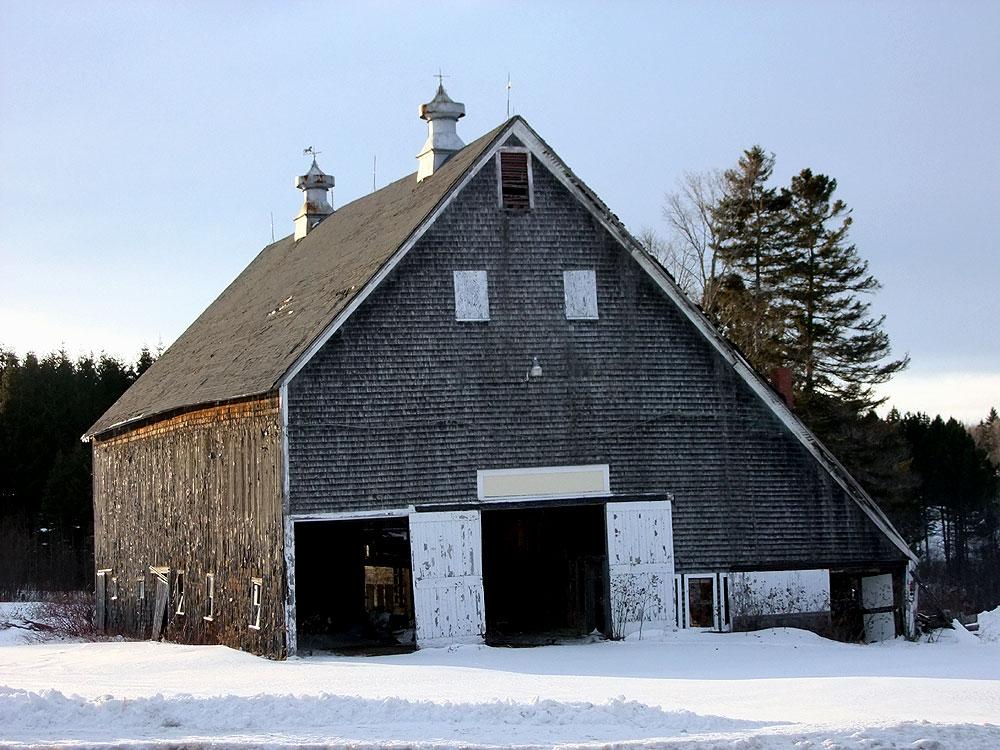 Hay Storage, Animal Shelter, Machinery Storage, The Maine Farm Barn.