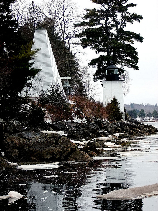 St Croix River's Whitlock Mills Calais ME Lighthouse.