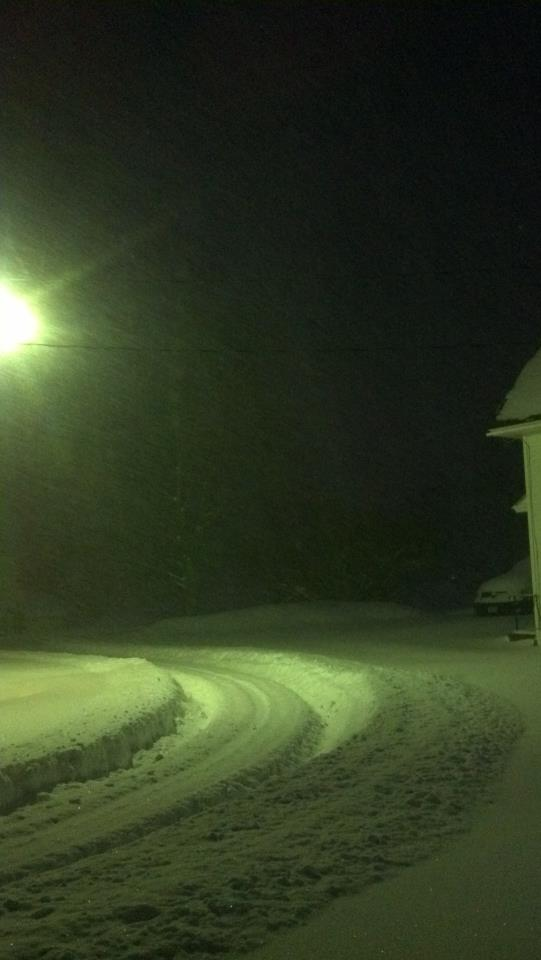Maine Snow, Early Morning Plowing.