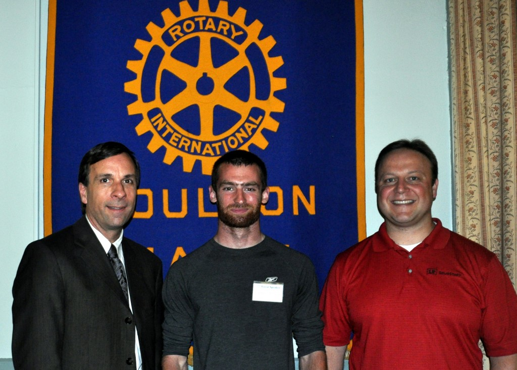 Me In Maine Author Andrew Mooers, Ben Torres, Rotary President Ryan Bushey