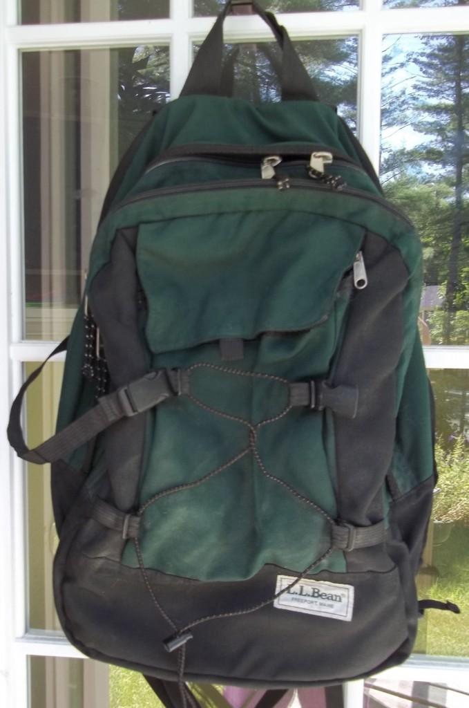 Maine LL Bean Knapsack Has Brinks Use Without The Armor.
