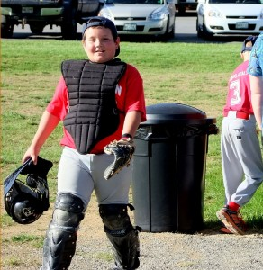 Maine Little League Sports Team Catcher.