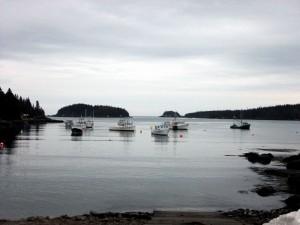 Maine Harbor Scene In Cutler ME