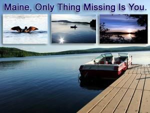 Maine Lake Fun May Involve A Boat.