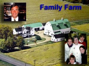 Maine Family Farm Aerial Photo