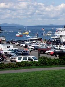 Maine Coastal Harbor Town Photo