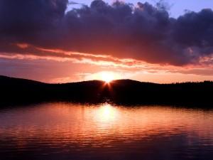 Maine Sunset Lake Photo