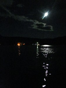 Maine Lake Summer Moonlight.