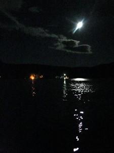 Maine Lake Summer Moonlight.