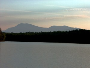 Maine's Mt Katahdin Over Shin Pond.