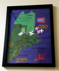 Home Made Maine Map.