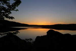 Maine Lake Sunset Photo