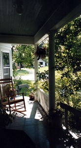 Sitting On A Maine Porch. Maine Is That.