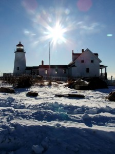 Maine Lighthouses Are Neat In Winter Magic.