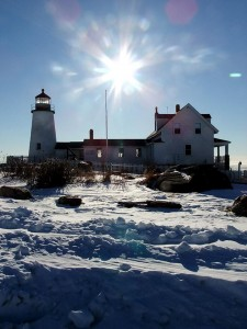 Maine Lighthouse In Winter