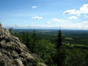 Maine Hiking Haystack Mountain.