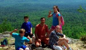 Climbing, Hiking Up Haystack Mountain, Aroostook County Maine.