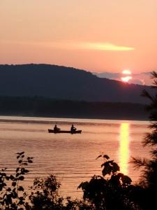 Maine Sunset On A Lake