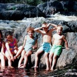 Maine Kids At Hastings Falls