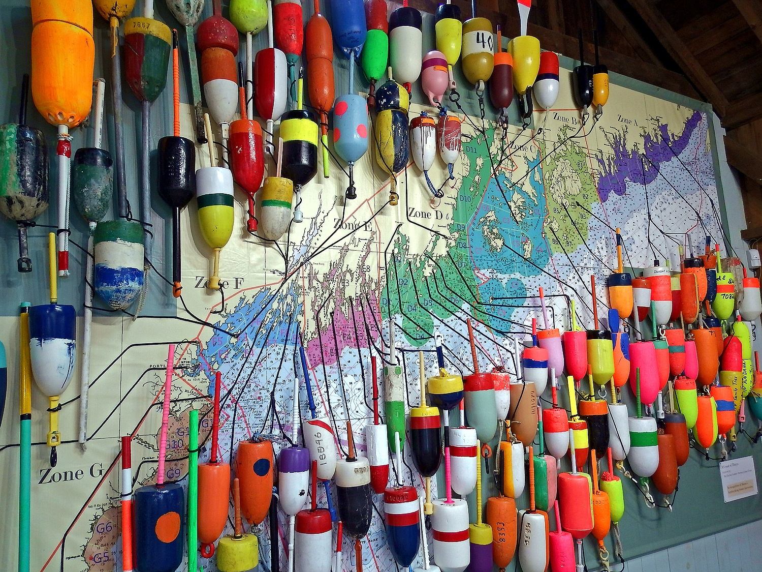 maine fishing buoys colors