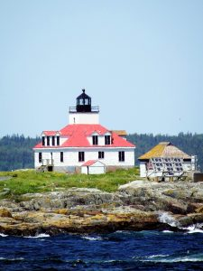 Egg Rock Lighthouse Off Bar Harbor Maine