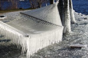 Maine Ice Hammock On Lake
