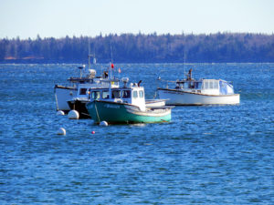 Lobster Boats In Maine Part Of Christmas Dining.