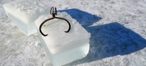 Ice Making Block Harvested From Cut