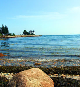 Maine Lighthouses Enhance The Sea Shore Experience.