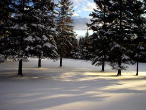 maine outdoor winter scene