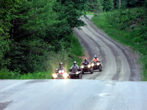 ATV Four Wheelers Hitting The Trails.