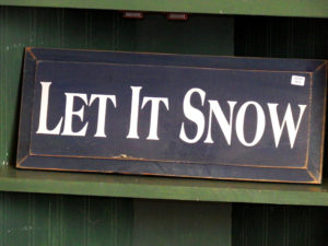 maine snow sign