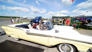local wings and wheels event at airport,
