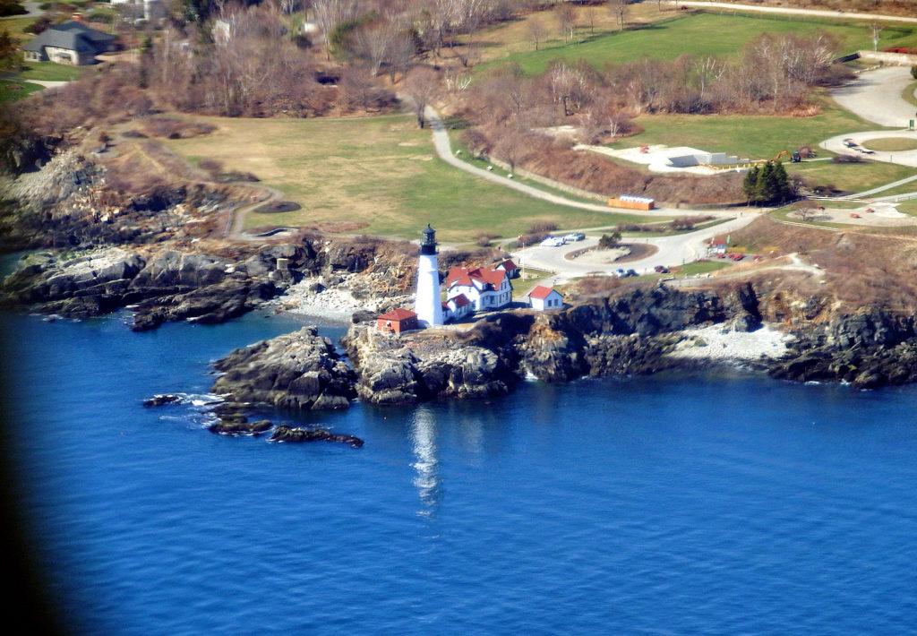 maine aerial views portland head light