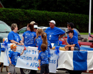 small maine town parade float photo