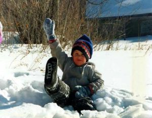 maine kid in winter photo